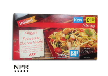 Iceland Chinese Firecracker noodles review