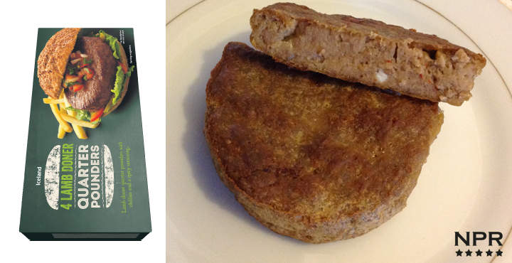 new product review - Iceland lamb burgers