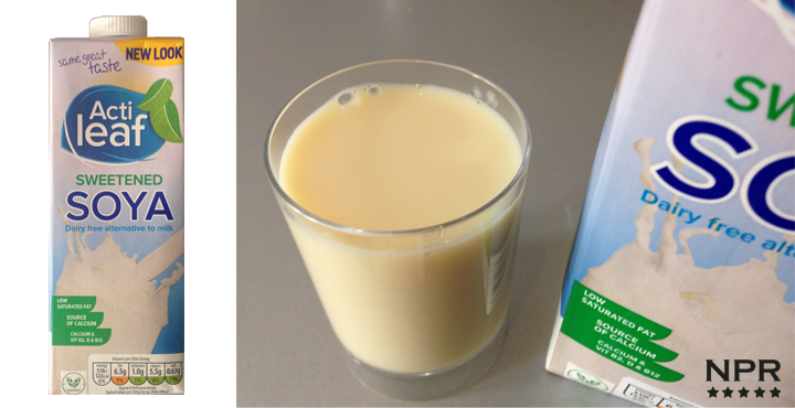 Aldi Acti Leaf Soya Milk Review New Product Reviews New