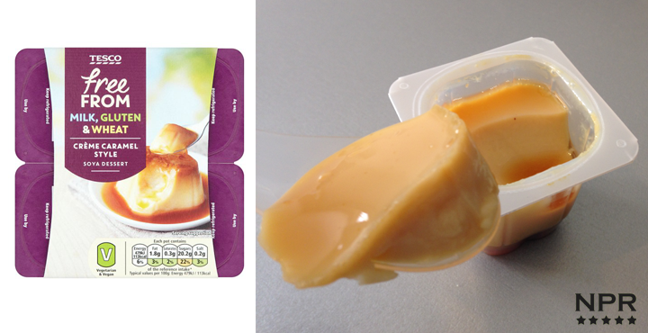 Tesco dairy free caramel cup review