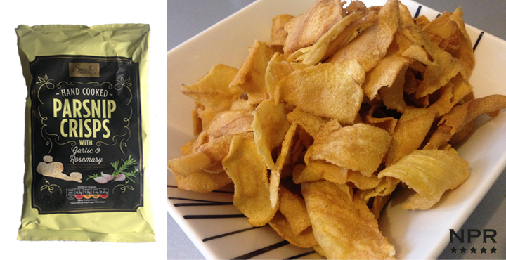 Aldi hand cooked rosemary & Garlic parsnip crisps review