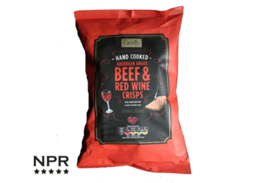 Aldi beef and wine crisps review