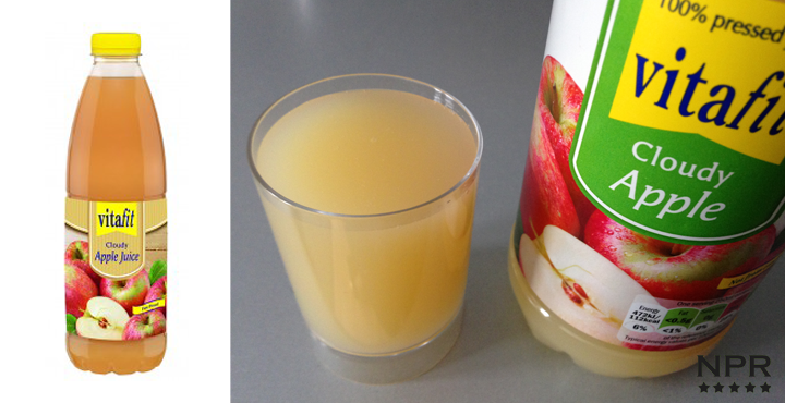 Lidl Vitafit cloudy apple juice 1 litre bottle