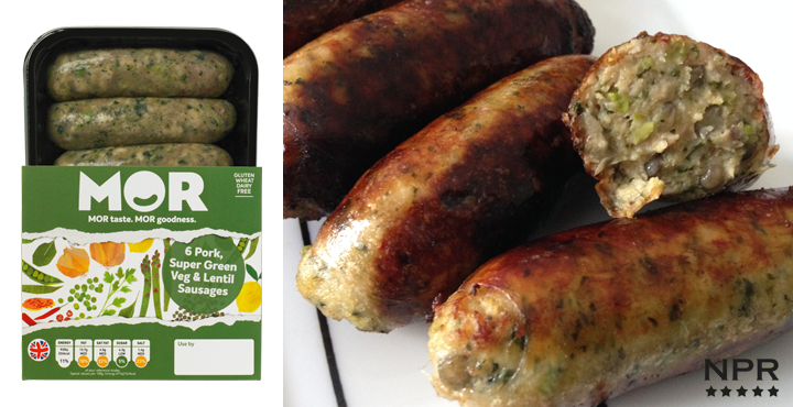 Mor Super Green sausages review