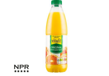 Lidl orange juice with bits