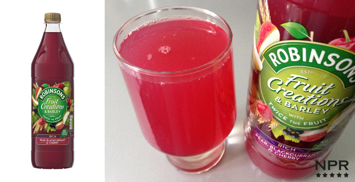 Robinsons fruit creations pear blackcurrant and cherry squash review